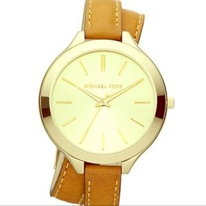 Michael Kors Double-Wrap Leather Watch